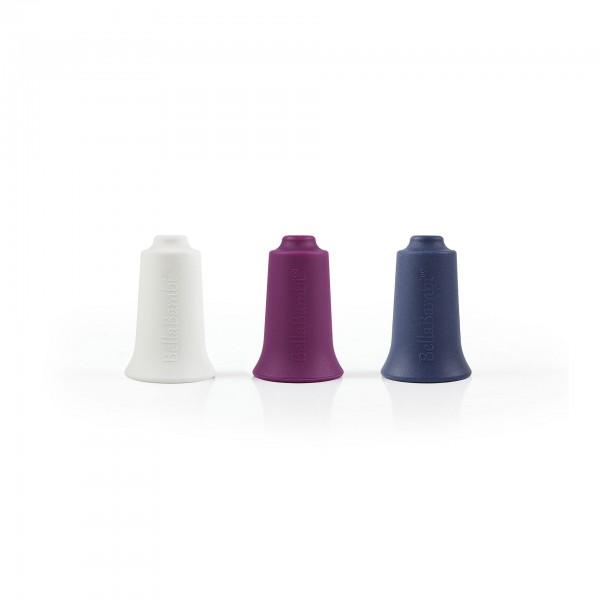 Produktbild BellaBambi mini trio weiß, brombeer, nachtblau