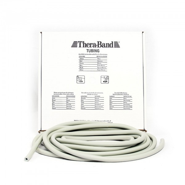 Produktbild TheraBand Tubing 7,50 m, super stark / silber