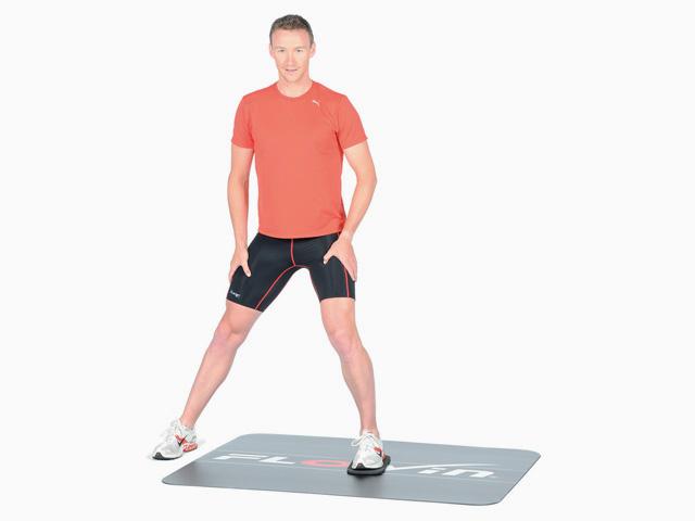 Ausfallschritt mit Gewichtsverlagerung