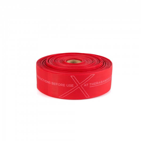 Produktbild TheraBand CLX Rolle 22 m, mittel stark / rot