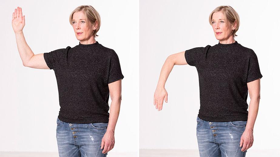 Selbsttest Neurotraining - Schulterbeweglichkeit