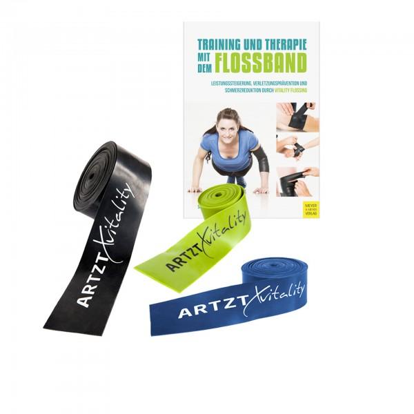 Produktbild 3er-Set ARTZT vitality Flossband + Vitality Flossing Buch