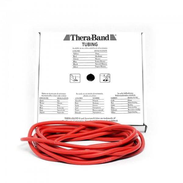 Produktbild TheraBand Tubing 7,50 m, mittel / rot