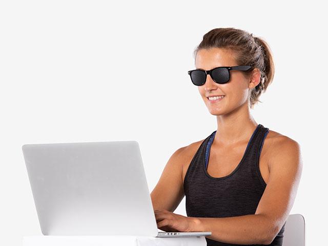 Entspannungsübung mit der Rasterbrille