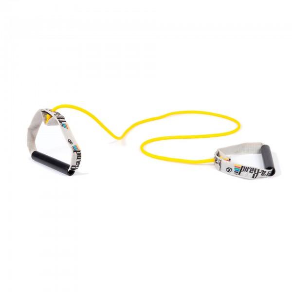 Produktbild TheraBand Bodytrainer Tubing mit festen Griffen, dünn / gelb