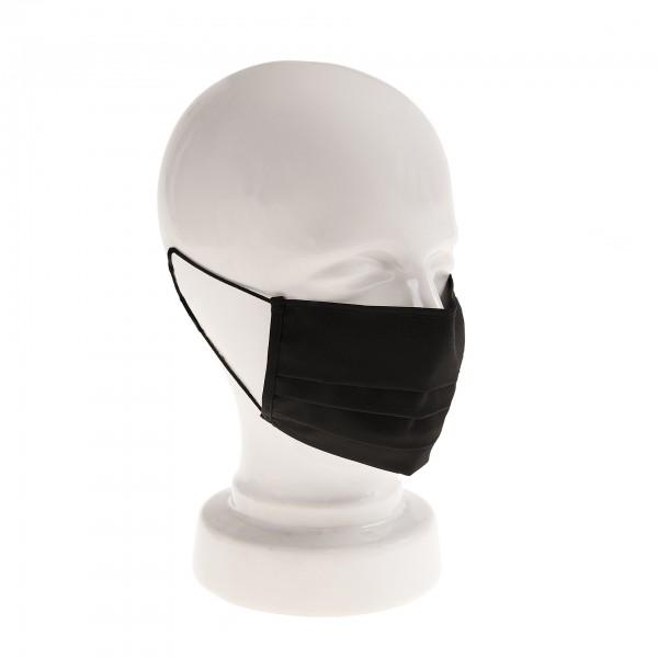 Tragebeispiel ARTZT vitality Mund-Nasen-Maske Classic schwarz auf weißer Büste