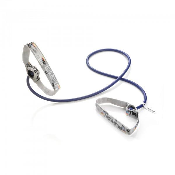 Produktbild TheraBand Bodytrainer Tubing mit flexiblen Griffen, extra stark / blau