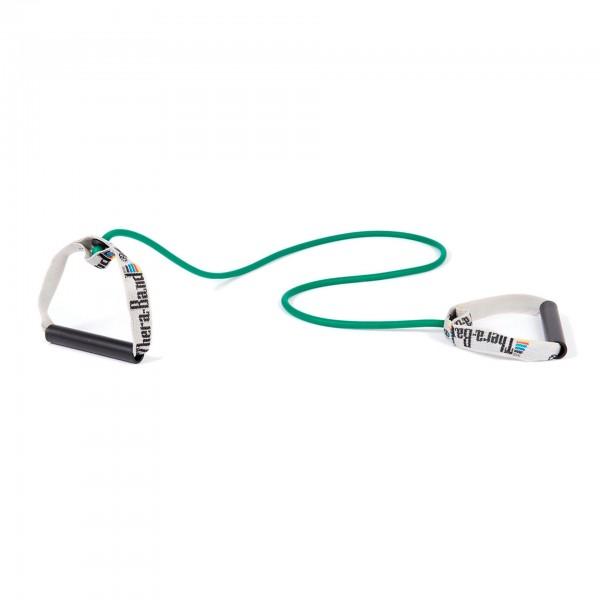 Produktbild TheraBand Bodytrainer Tubing mit festen Griffen, stark / grün