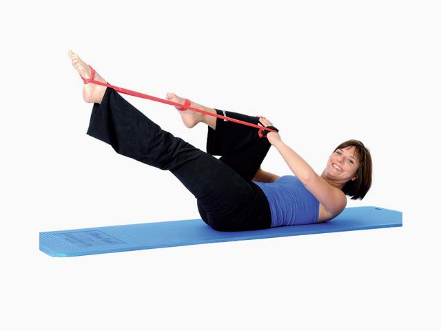 Beinstreckung einfach / Single-leg stretch