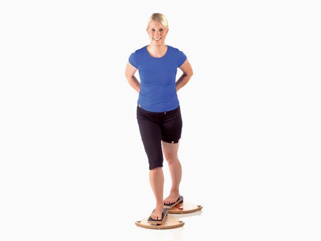 Hüftgelenk Außen- und Innenrotation in Schrittstellung hinten