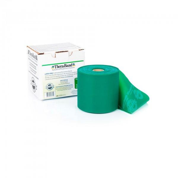 Produktbild TheraBand latexfreies Übungsband 22,85 m, stark / grün