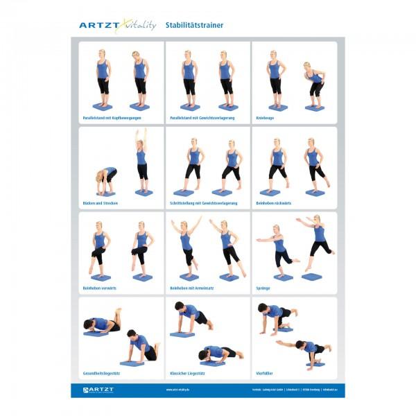 Produktbild Übungsposter ARTZT vitality Stabilitätstrainer DIN A1
