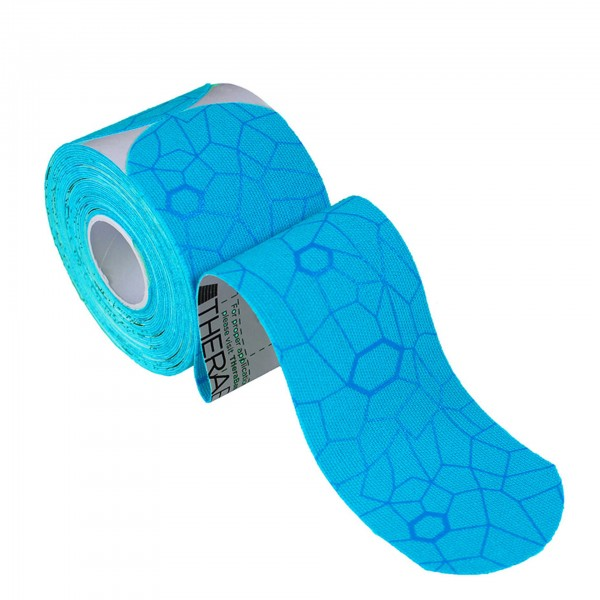 Produktbild TheraBand Kinesiology Tape Precut Rollen (20 Tapes á 25,4 x 5 cm), blau