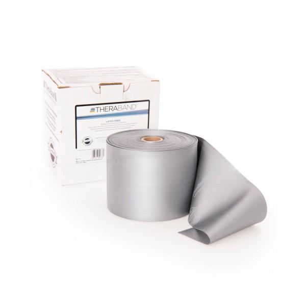 Produktbild TheraBand latexfreies Übungsband 22,85 m, super stark / silber