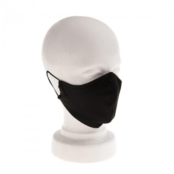 Tragebeispiel ARTZT vitality Mund-Nasen-Maske Kontour schwarz auf weißer Büste