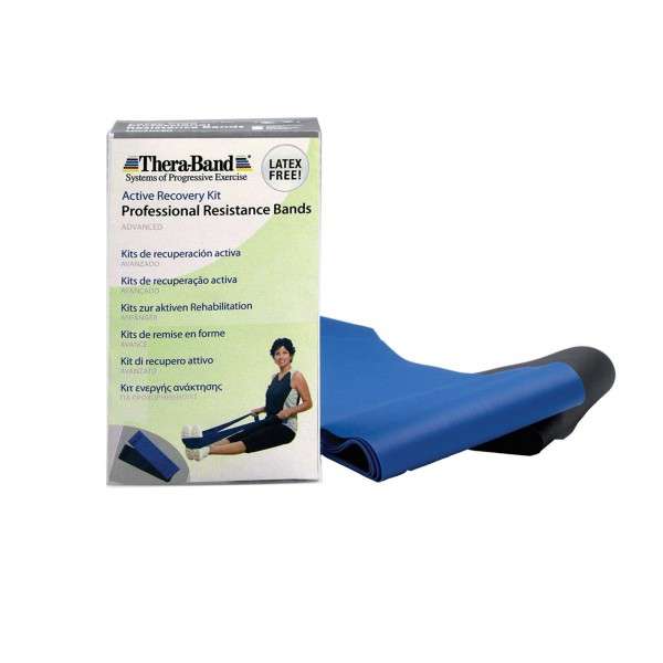 Produktbild TheraBand latexfreie Übungsbänder im Set 2 x 1,50 m, extra stark + spezial stark