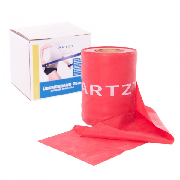 Produktbild ARTZT vitality Übungsband Rolle 25 m, rot