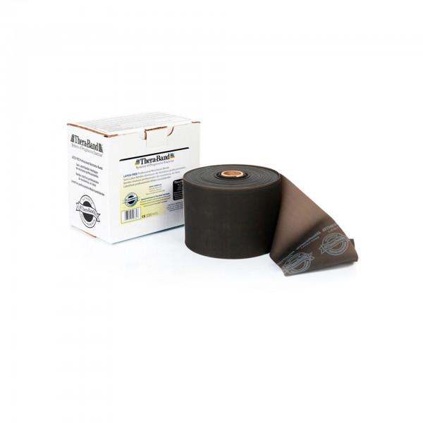 Produktbild TheraBand latexfreies Übungsband 22,85 m, spezial stark / schwarz