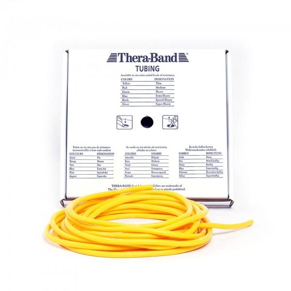 Produktbild TheraBand Tubing 7,50 m, dünn / gelb