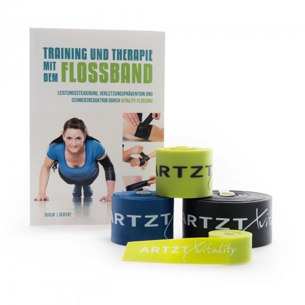Produktbild 4er-Set ARTZT vitality Flossband + Vitality Flossing Buch